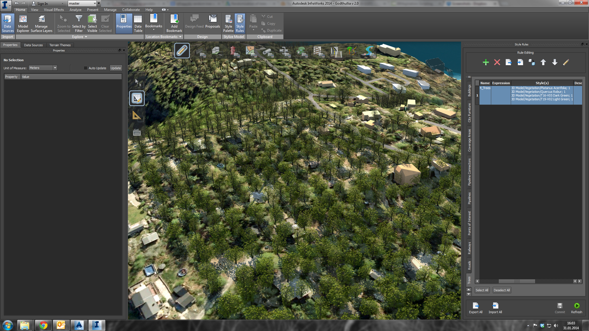 Infraworks – Randomising trees in a forest area | Daniel